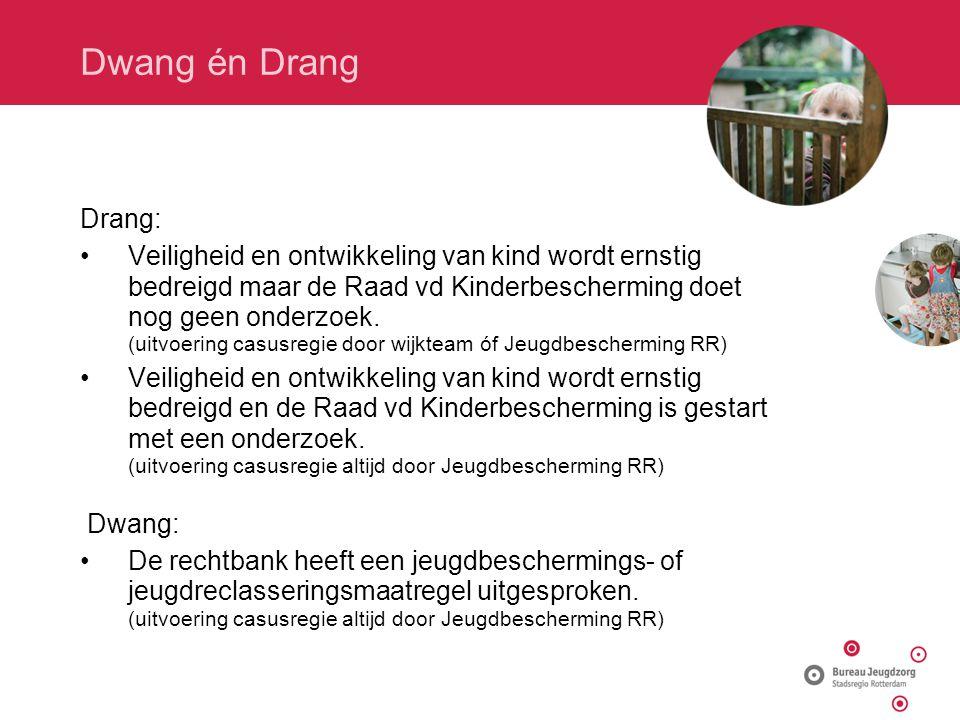 Dwang én Drang Drang: Veiligheid en ontwikkeling van kind wordt ernstig bedreigd maar de Raad vd Kinderbescherming doet nog geen onderzoek.