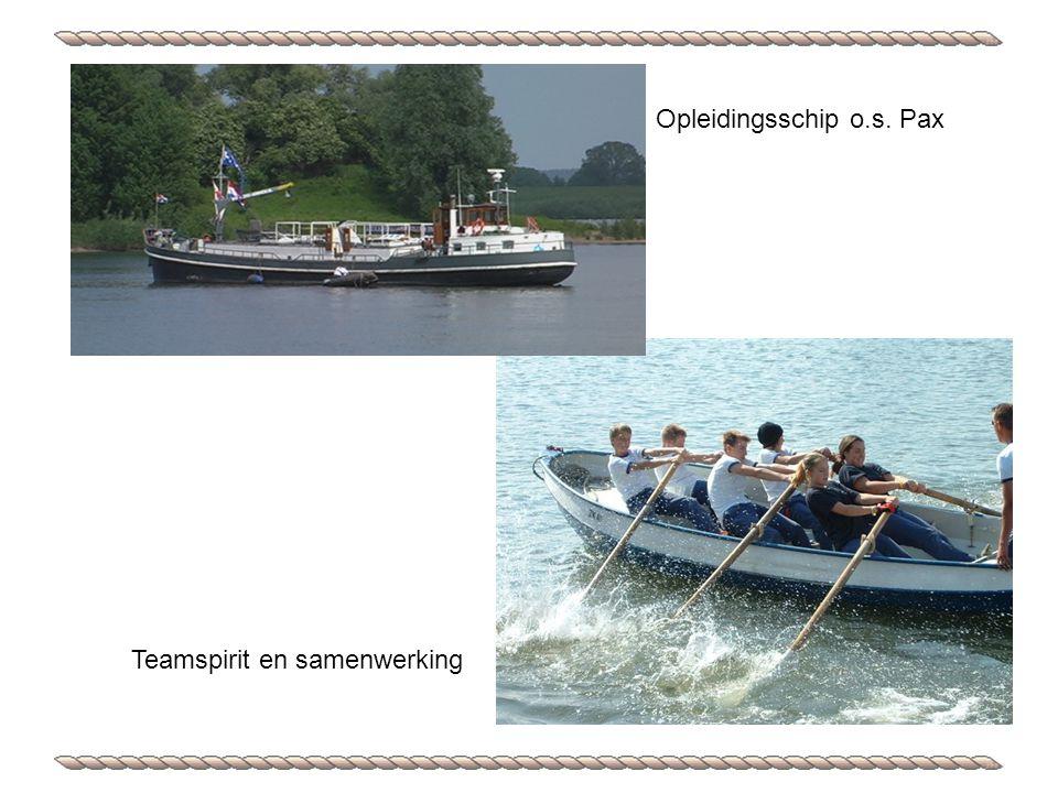 Opleidingsschip o.s. Pax Teamspirit en samenwerking