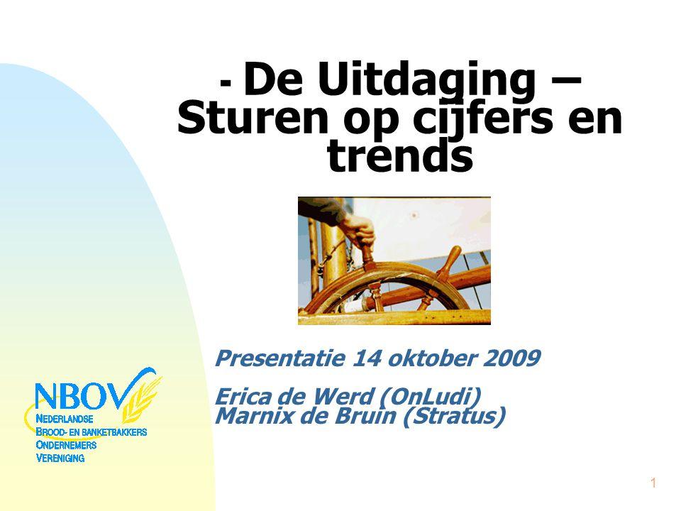 - De Uitdaging – Sturen op cijfers en trends Presentatie 14 oktober 2009 Erica de Werd (OnLudi) Marnix de Bruin (Stratus) 1