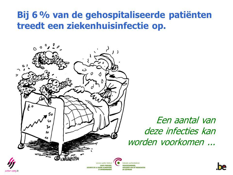 Bij 6 % van de gehospitaliseerde patiënten treedt een ziekenhuisinfectie op. Een aantal van deze infecties kan worden voorkomen...