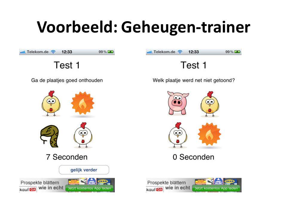 Voorbeeld: Geheugen-trainer