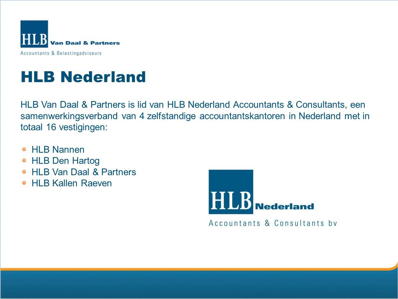HLB International HLB International, opgericht in 1969, is een wereldwijd opererend netwerk van zelfstandige accountants- en consultancygroepen met ruim 500 vestigingen in meer dan 100 landen.