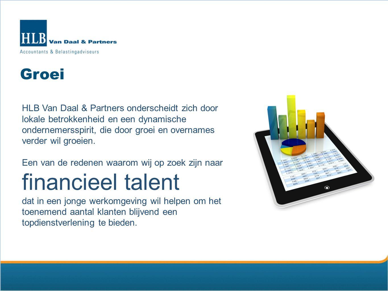 Aantrekkelijk werkgever HLB Van Daal & Partners wil een aantrekkelijke werkgever zijn voor haar huidige en toekomstige medewerkers, die trots zijn om voor onze organisatie te werken en dit uit te dragen naar klanten.