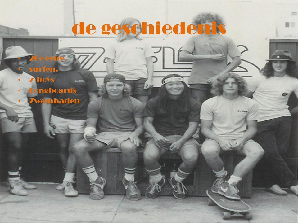 Hoofdstukken De geschiedenis Onderdelen Van longboard tot skateboard Skateboard kopen Wedstrijden De top