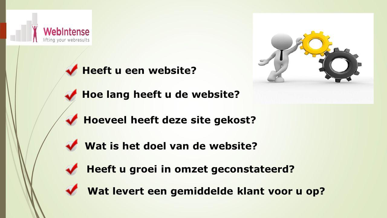 Heeft u een website. Wat is het doel van de website.
