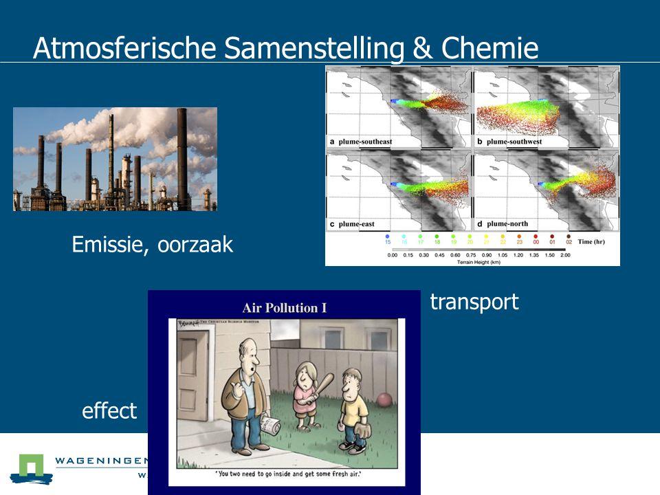 Atmosferische Samenstelling & Chemie Emissie, oorzaak transport effect