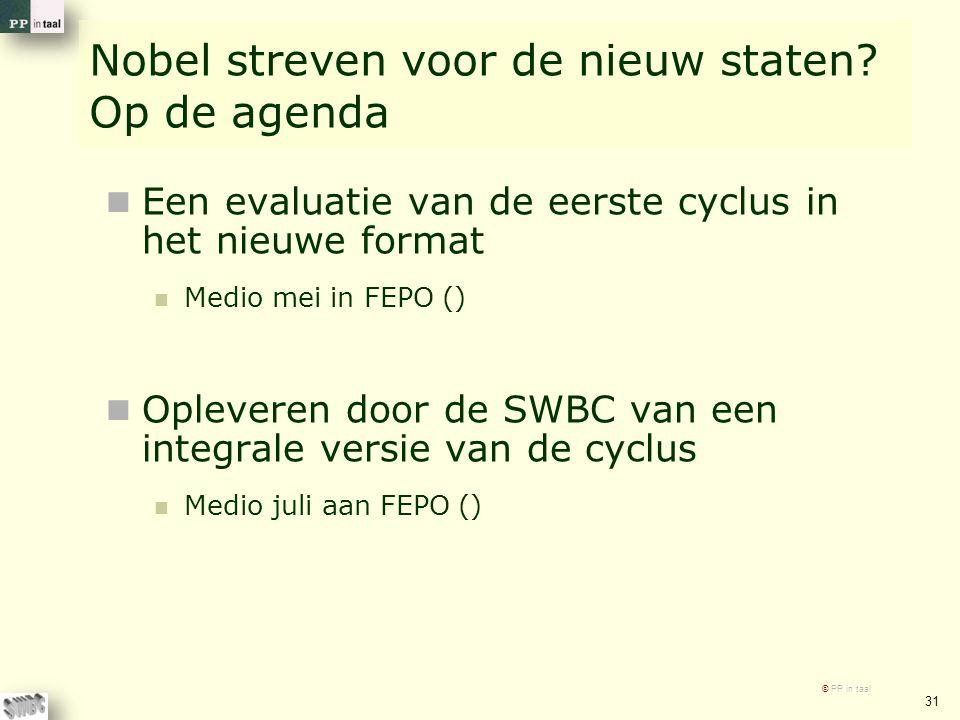 Nobel streven voor de nieuw staten.