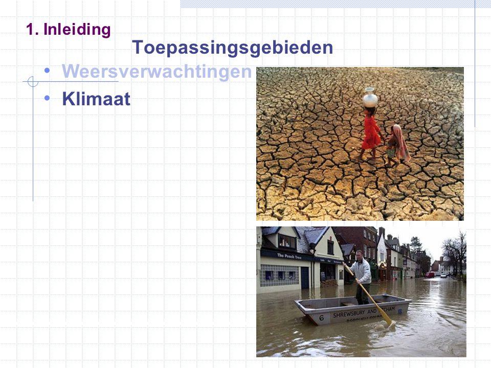 Weersverwachtingen Klimaat 1. Inleiding Toepassingsgebieden