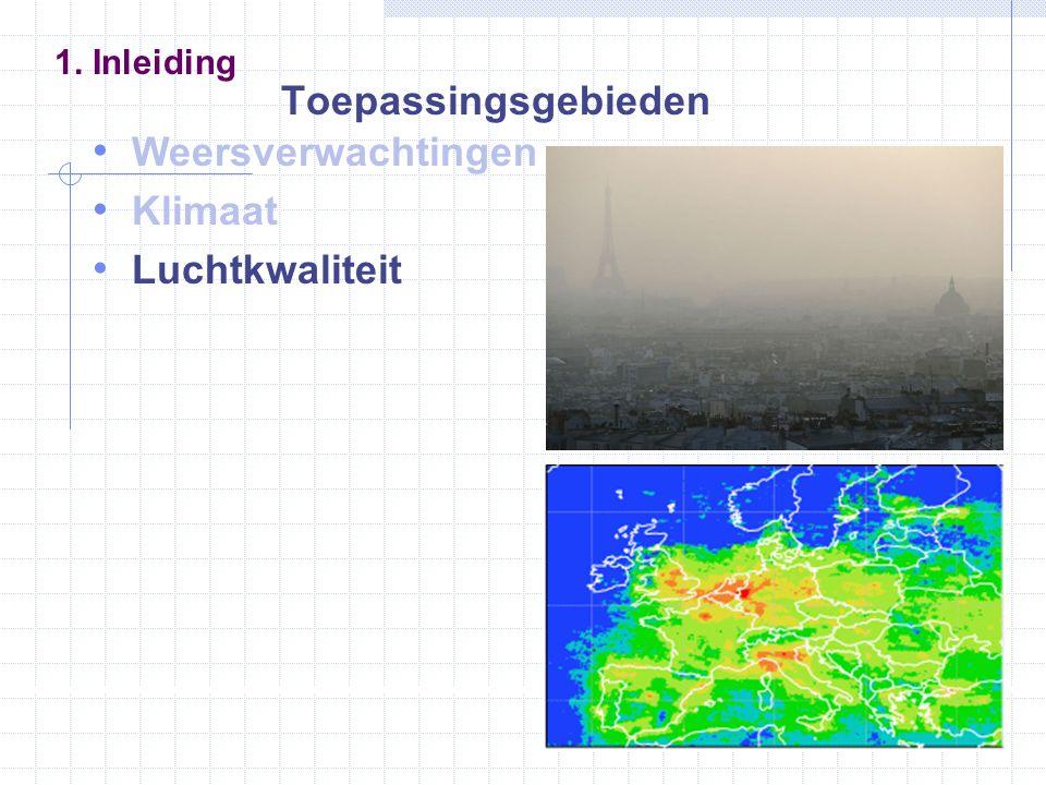 Weersverwachtingen Klimaat Luchtkwaliteit 1. Inleiding Toepassingsgebieden