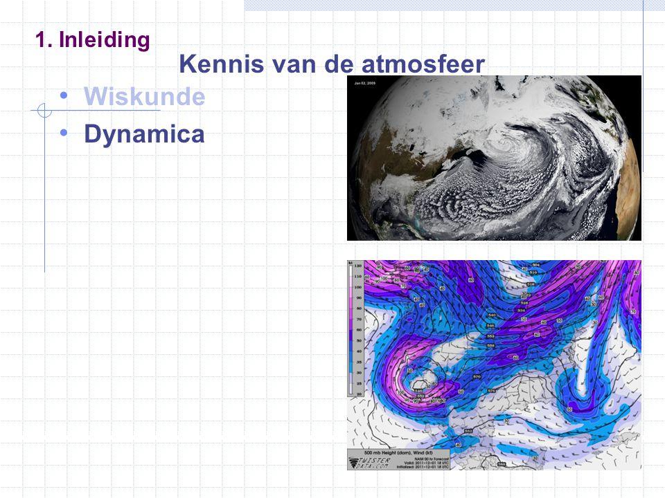 Wiskunde Dynamica Thermodynamica 1. Inleiding Kennis van de atmosfeer