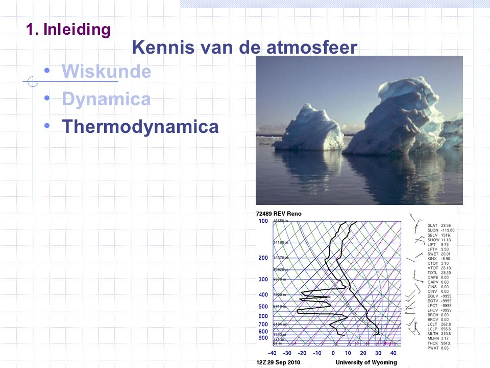38 De aarde en haar atmosfeer Barometrische hoogteformule 5.