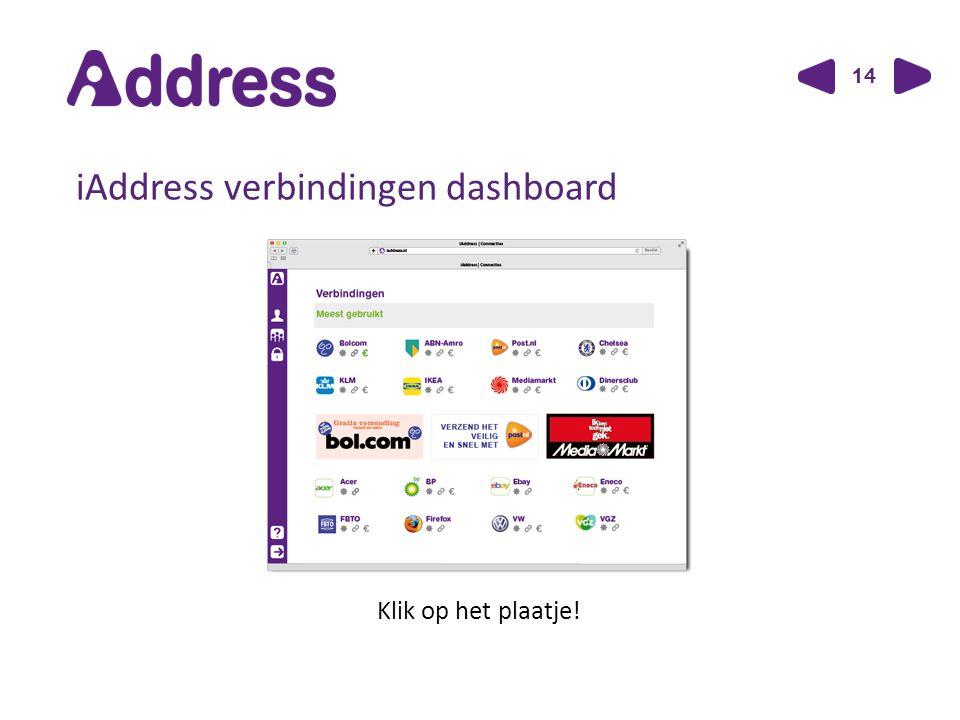 14 iAddress verbindingen dashboard Klik op het plaatje!