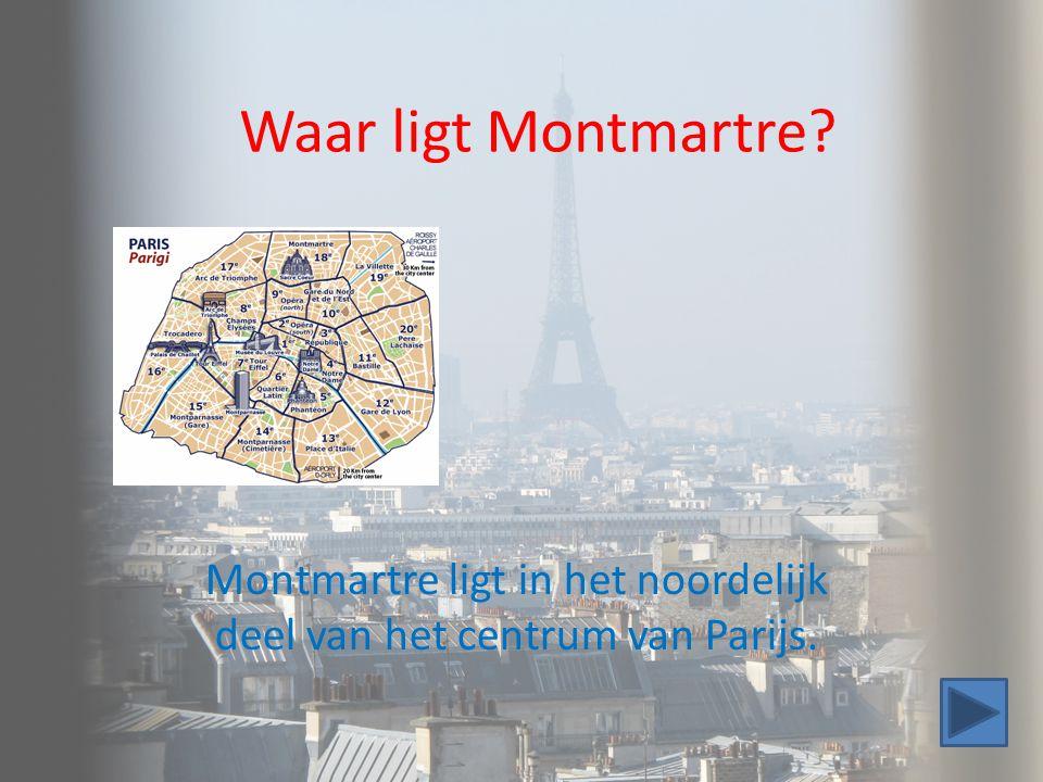 Waar ligt Montmartre? Montmartre ligt in het noordelijk deel van het centrum van Parijs.