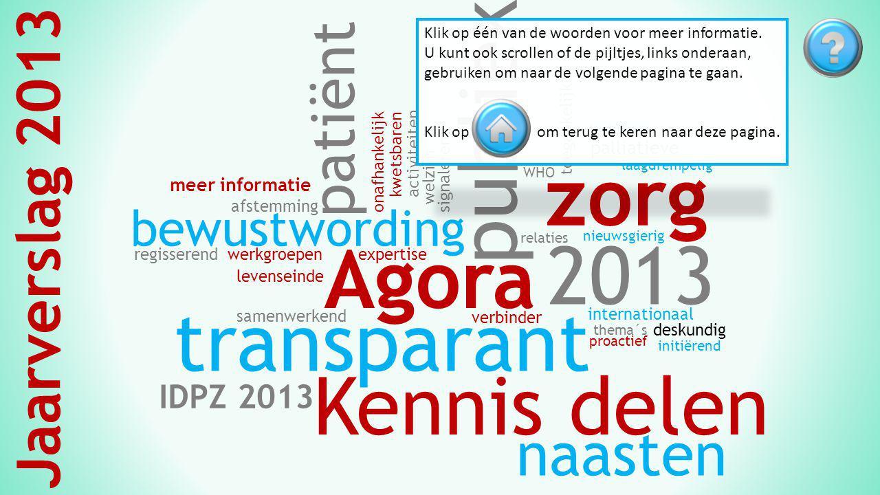 Agora 2013 Vroeg of laat krijgt iedereen te maken met het levenseinde.
