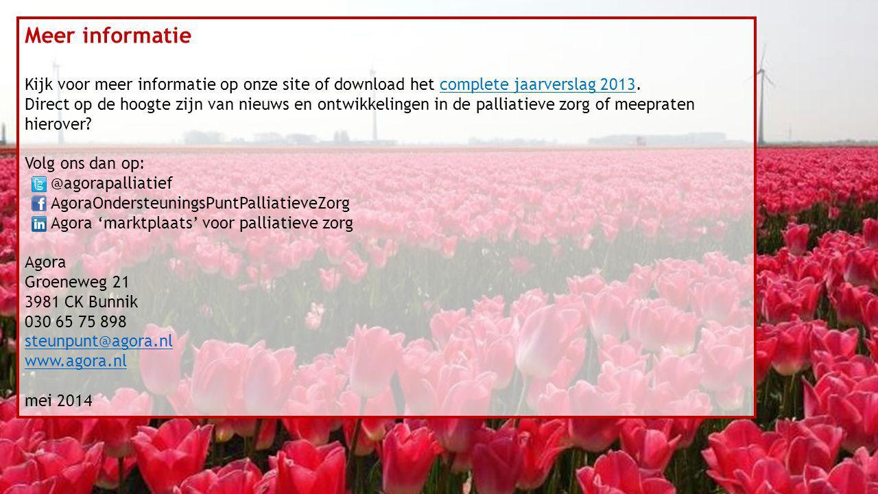 Meer informatie Kijk voor meer informatie op onze site of download het complete jaarverslag 2013.