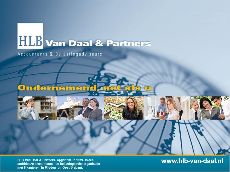 HLB Van Daal & Partners, opgericht in 1979, is een ambitieuze accountants- en belastingadviesorganisatie met 8 kantoren in Midden- en Oost-Brabant.