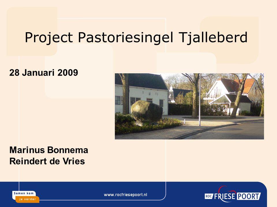 Project Pastoriesingel Tjalleberd 28 Januari 2009 Marinus Bonnema Reindert de Vries