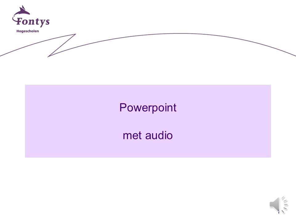 1 Powerpoint met audio