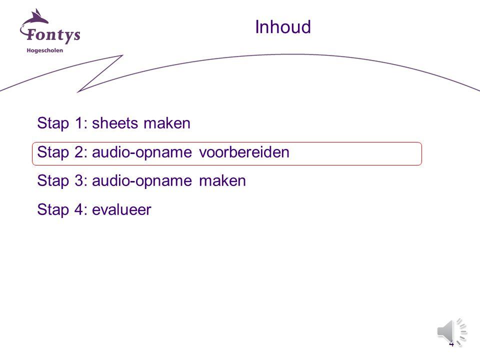 3 Stap 1 Sheets maken - structuur - inhoud - vorm:- lettertype - contrast - 4 x 4