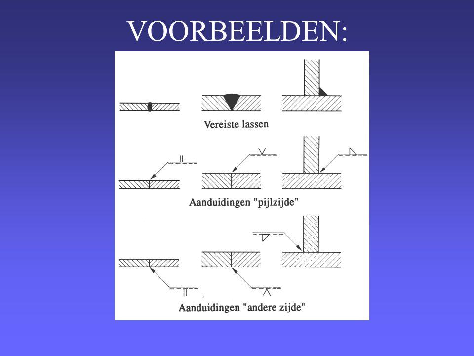Oplossing: Een onderbroken hoeklas.A-hoogte van 3mm.