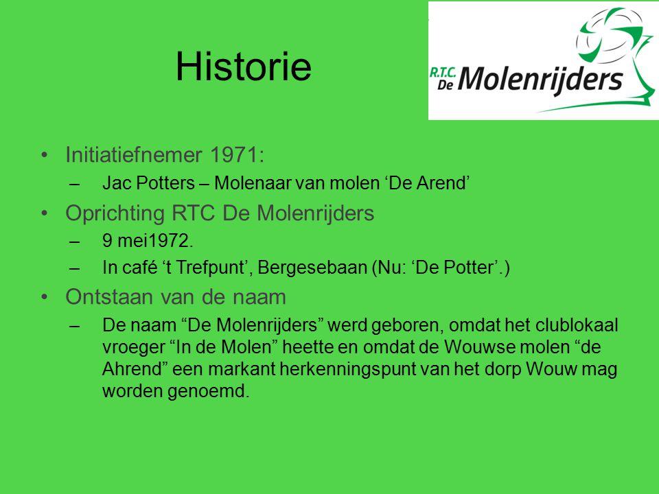Historie Initiatiefnemer 1971: –Jac Potters – Molenaar van molen 'De Arend' Oprichting RTC De Molenrijders –9 mei1972. –In café 't Trefpunt', Bergeseb