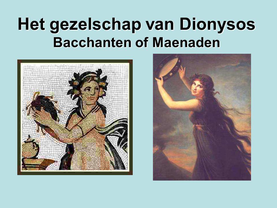 Het gezelschap van Dionysos Bacchanten of Maenaden