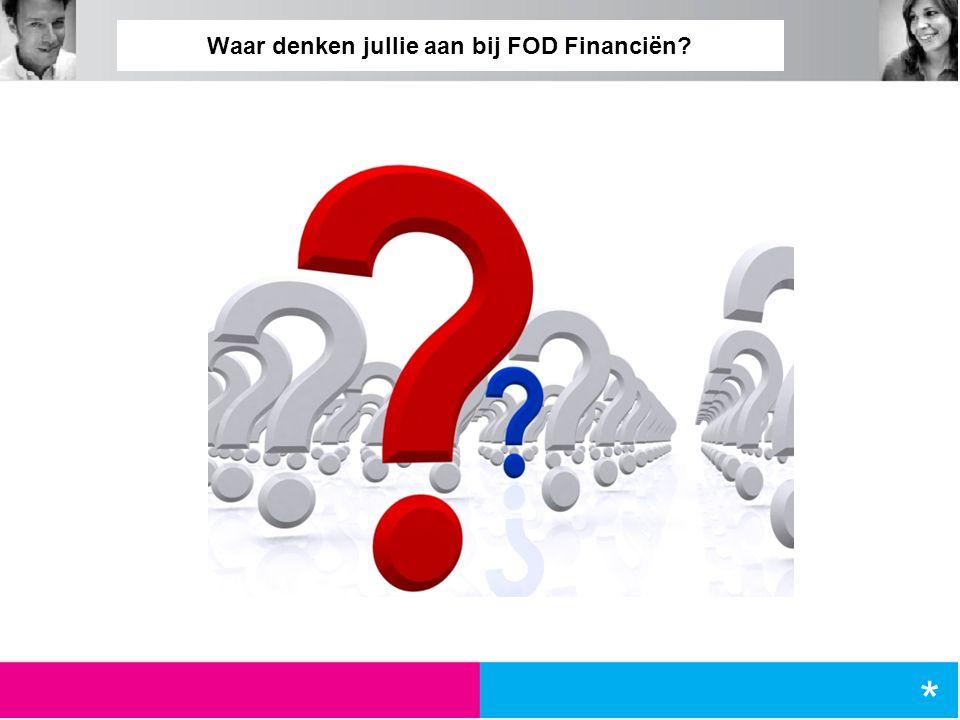Waar denken jullie aan bij FOD Financiën? *
