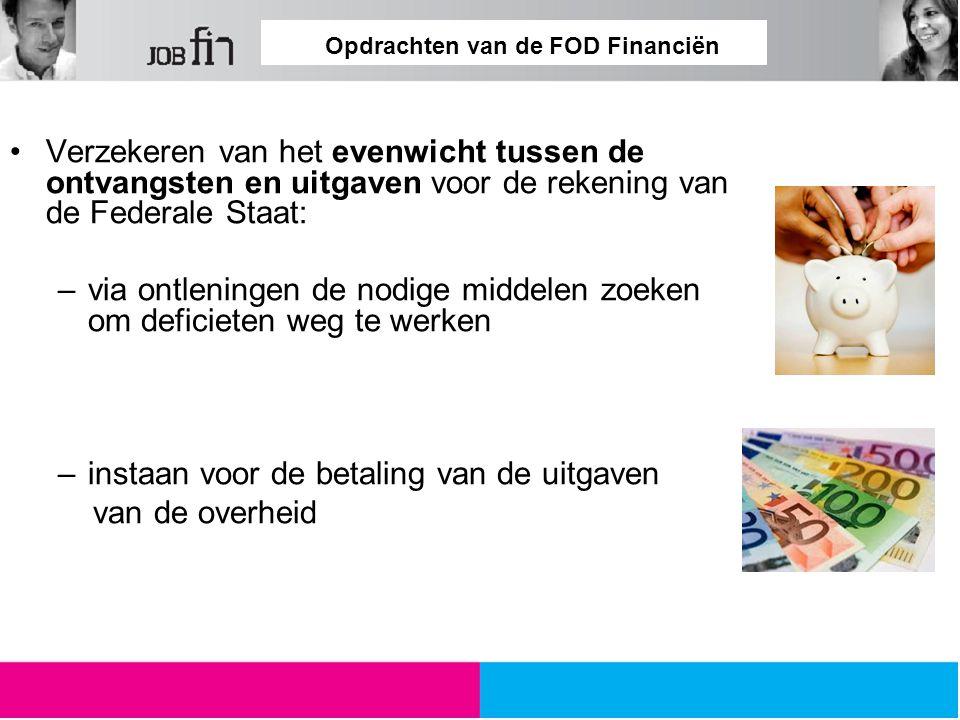 Opdrachten van de FOD Financiën Voeren van de strijd tegen drugs, namaak en vrouwenhandel,…..