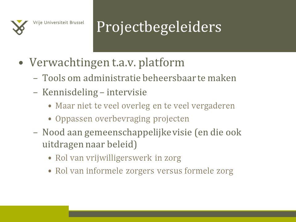 Projectbegeleiders Verwachtingen t.a.v.