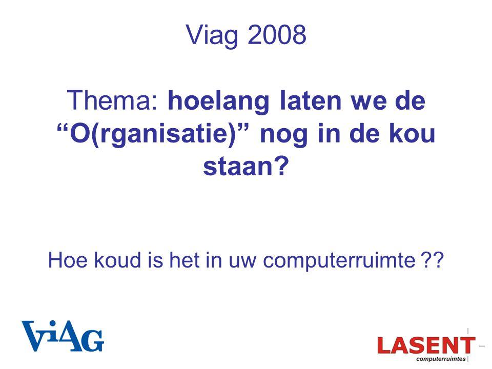 """Viag 2008 Thema: hoelang laten we de """"O(rganisatie)"""" nog in de kou staan? Hoe koud is het in uw computerruimte ??"""
