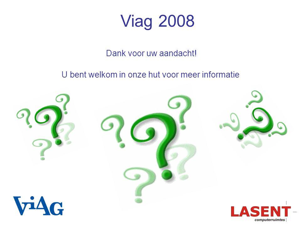 U bent welkom in onze hut voor meer informatie Dank voor uw aandacht! Viag 2008