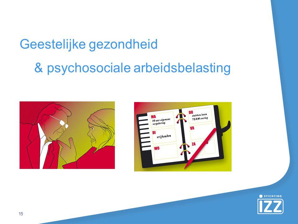 Geestelijke gezondheid & psychosociale arbeidsbelasting 15