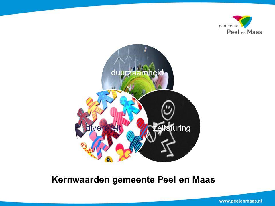 duurzaamheid zelfsturingdiversiteit Kernwaarden gemeente Peel en Maas