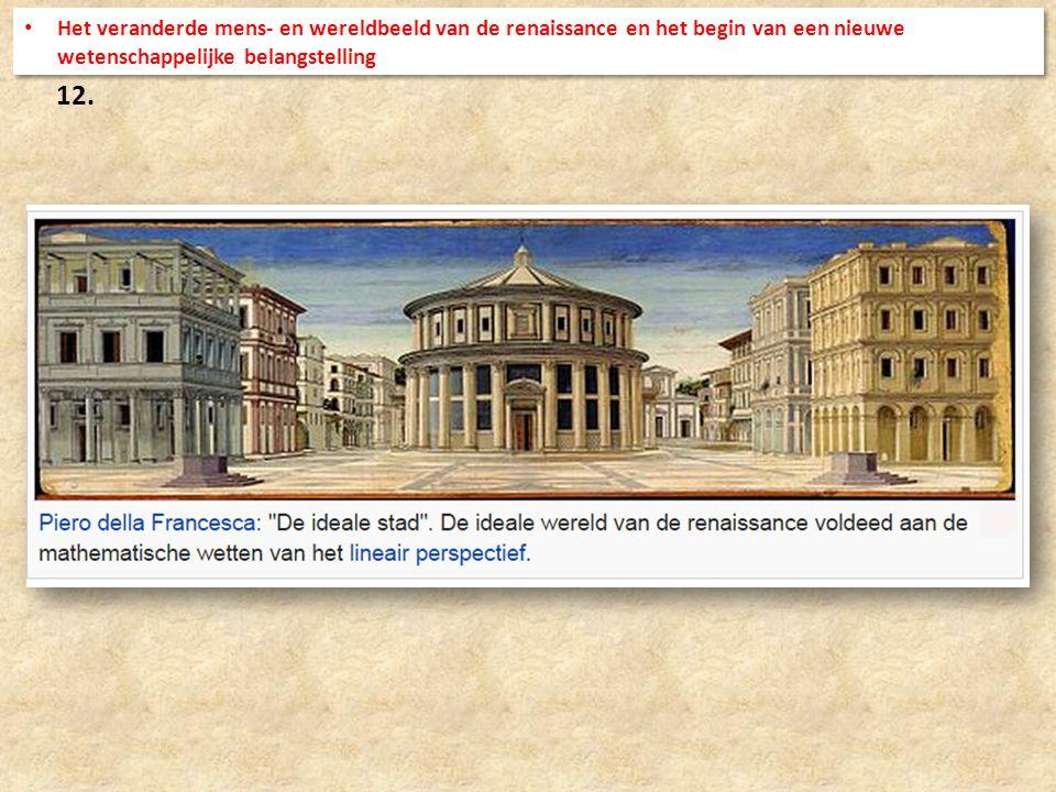 12. Het veranderde mens- en wereldbeeld van de renaissance en het begin van een nieuwe wetenschappelijke belangstelling