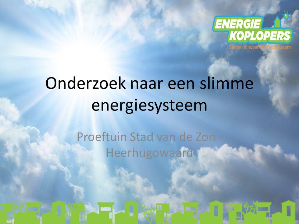 Onderzoek naar een slimme energiesysteem Proeftuin Stad van de Zon - Heerhugowaard
