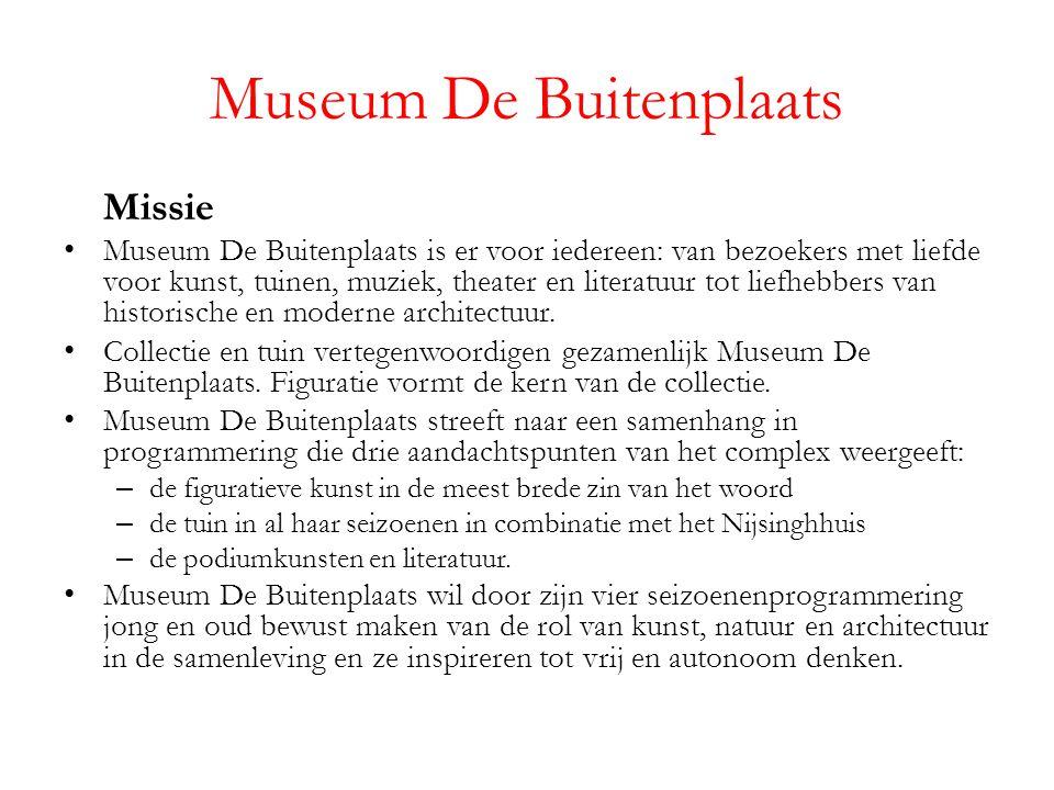 Missie Museum De Buitenplaats is er voor iedereen: van bezoekers met liefde voor kunst, tuinen, muziek, theater en literatuur tot liefhebbers van historische en moderne architectuur.