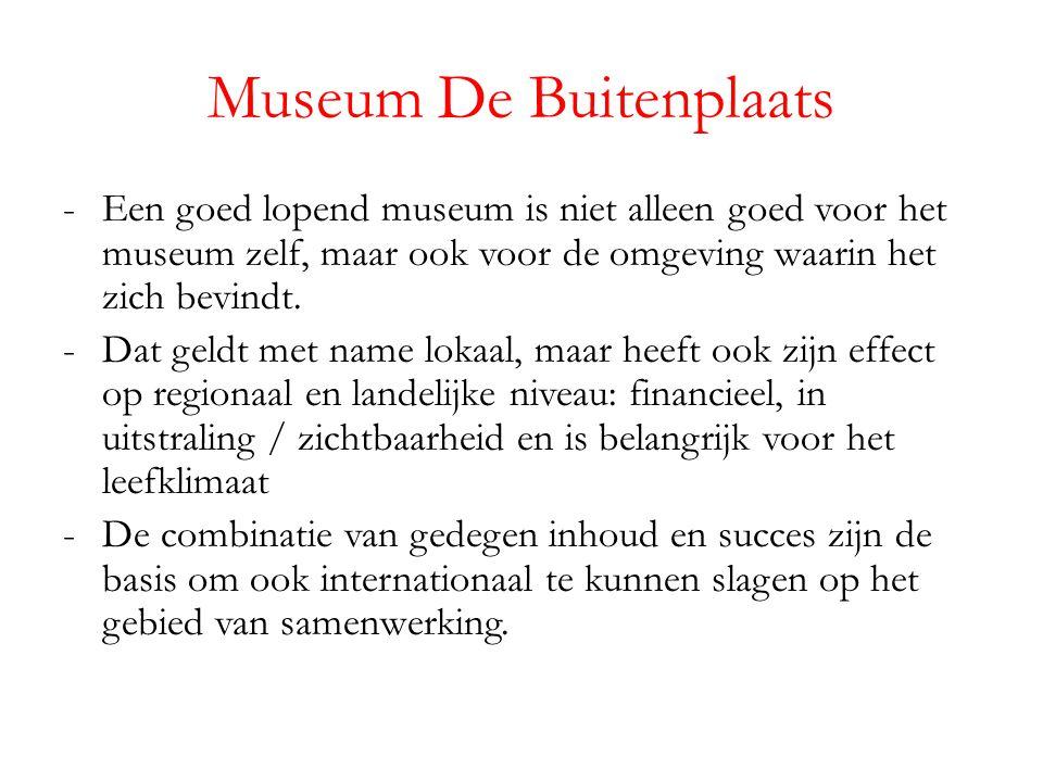 Museum De Buitenplaats -Een goed lopend museum is niet alleen goed voor het museum zelf, maar ook voor de omgeving waarin het zich bevindt.