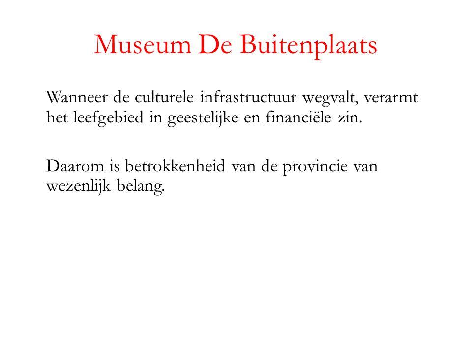 Museum De Buitenplaats Wanneer de culturele infrastructuur wegvalt, verarmt het leefgebied in geestelijke en financiële zin.