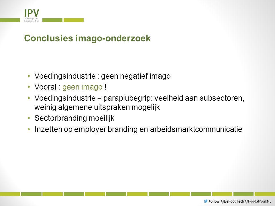 @BeFoodTech @FoodatWorkNL Conclusies imago-onderzoek Voedingsindustrie : geen negatief imago Vooral : geen imago .
