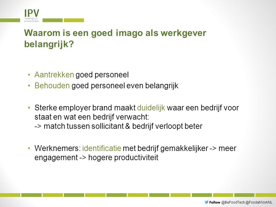 @BeFoodTech @FoodatWorkNL Wat vinden mensen belangrijk in de zoektocht naar een job.