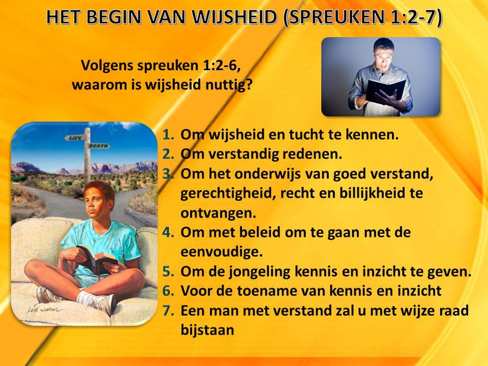 Volgens spreuken 1:2-6, waarom is wijsheid nuttig?