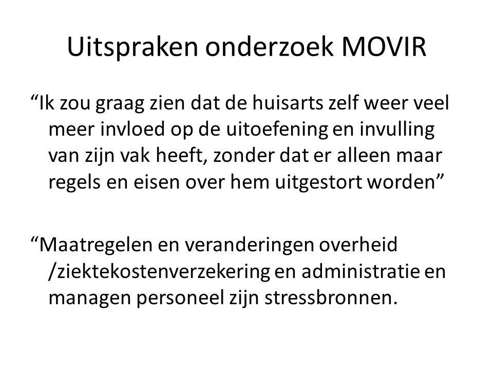 """Uitspraken onderzoek MOVIR """"Ik zou graag zien dat de huisarts zelf weer veel meer invloed op de uitoefening en invulling van zijn vak heeft, zonder da"""