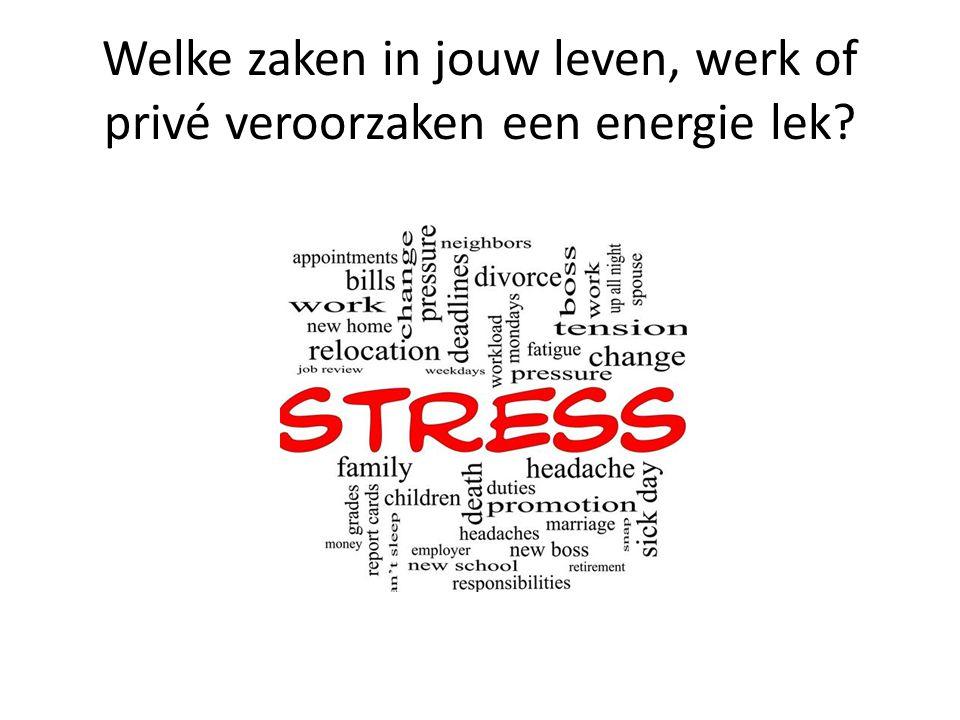 Welke zaken in jouw leven, werk of privé veroorzaken een energie lek?