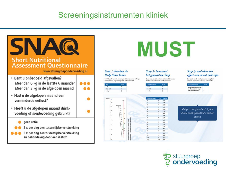 MUST Screeningsinstrumenten kliniek