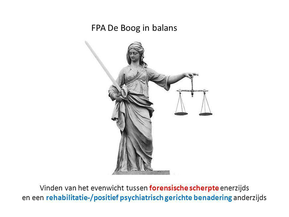 FPA De Boog in balans Vinden van het evenwicht tussen forensische scherpte enerzijds en een rehabilitatie-/positief psychiatrisch gerichte benadering anderzijds