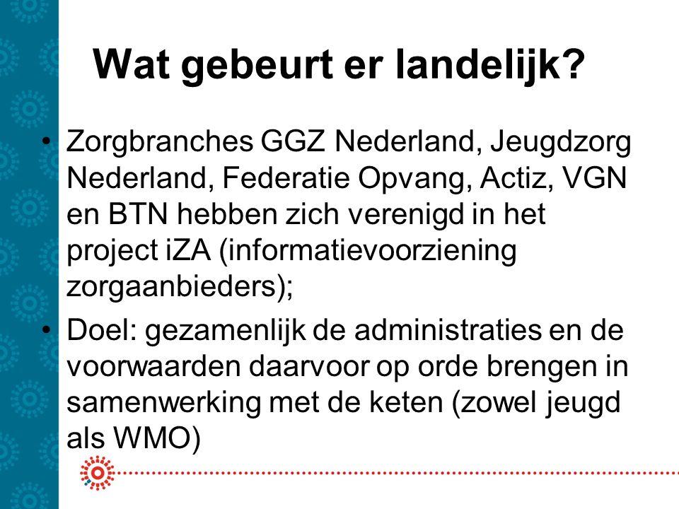 Insteek GGZ Nederland Balans zoeken tussen wat zorgaanbieders en gemeenten willen/doen versus standaardisatie berichten, beleidsinfo en verantwoording Standaardisatie staat beleidsvrijheid niet in de weg.