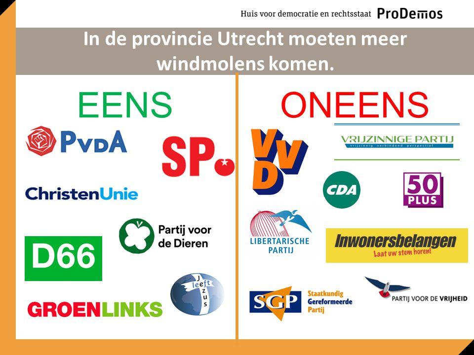EENSONEENS In de provincie Utrecht moeten meer windmolens komen.