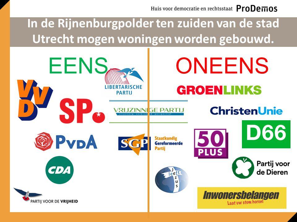 EENSONEENS In de Rijnenburgpolder ten zuiden van de stad Utrecht mogen woningen worden gebouwd.