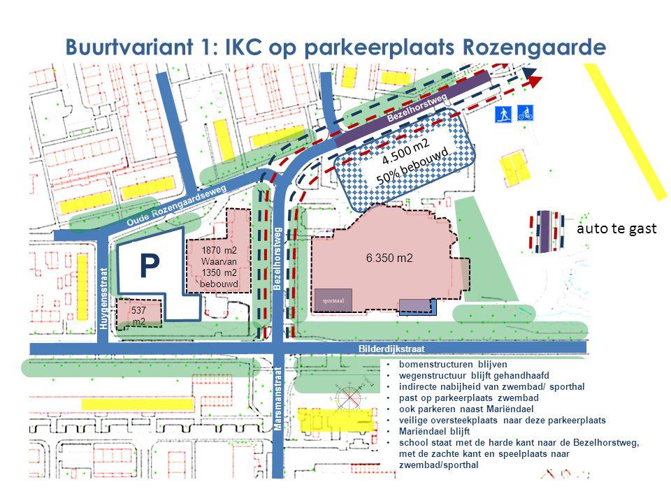 1870 m2 Waarvan 1350 m2 bebouwd 537 m2 Marsmanstraat Bezelhorstweg Bilderdijkstraat Oude Rozengaardseweg Bezelhorstweg 4.500 m2 50% bebouwd sportzaal