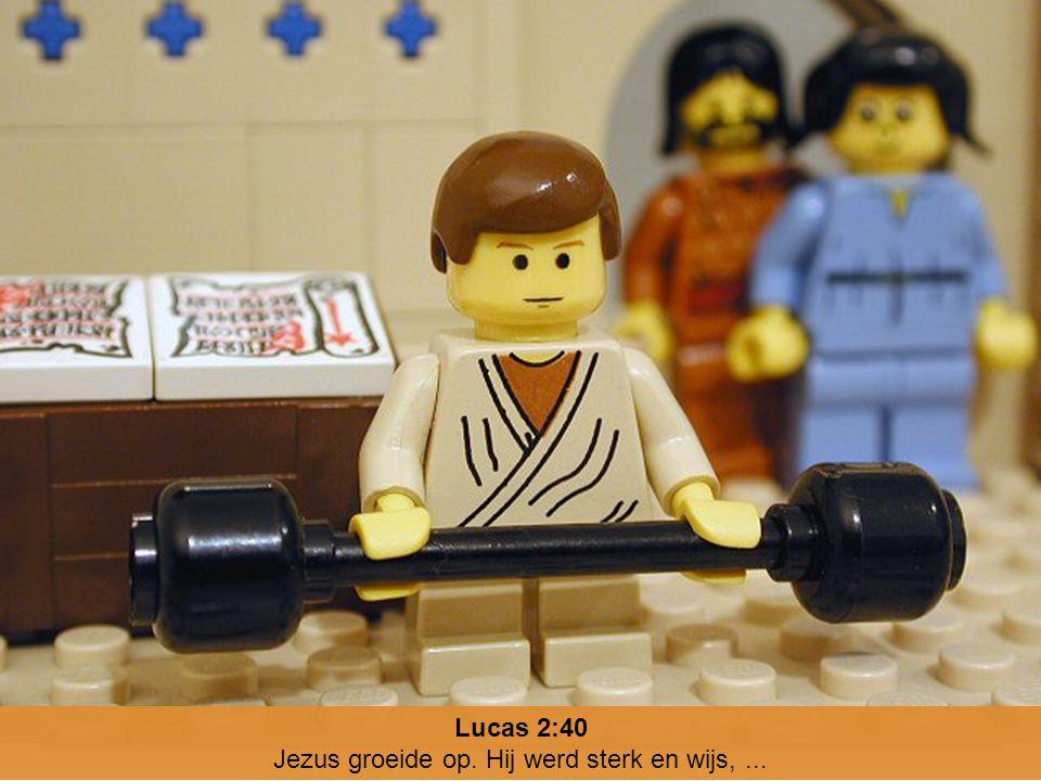 Lucas 2:40 Jezus groeide op. Hij werd sterk en wijs,...